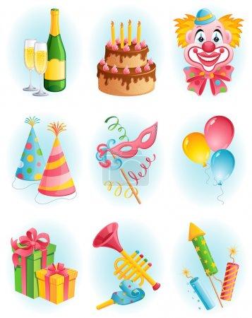 Photo pour Illustration vectorielle - ensemble d'icônes vacances - image libre de droit