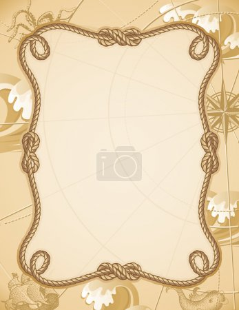 Illustration for Vector illustration - abstract sailing knot frame - Royalty Free Image