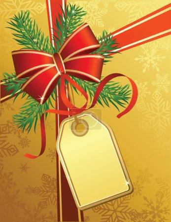 Illustration pour Illustrations vectorielles - cadeau de Noël - image libre de droit