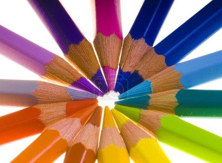Photo pour Crayons de couleur - image libre de droit