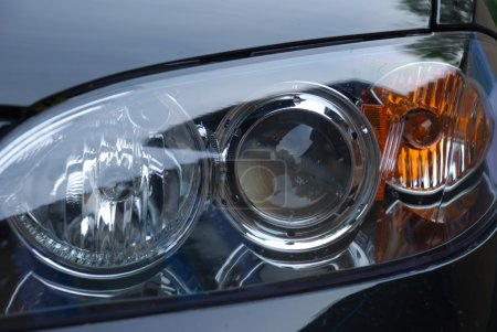 Modern car headlight background