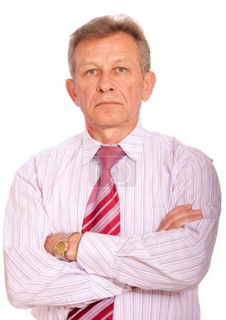 Portrait of elderly businessman