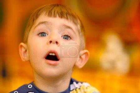 Photo for Portrait of little boy in kindergarten. - Royalty Free Image