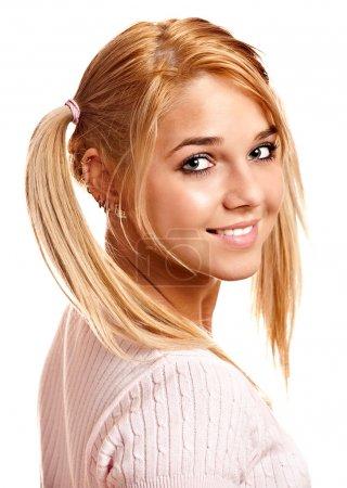 Portrait of fine blonde