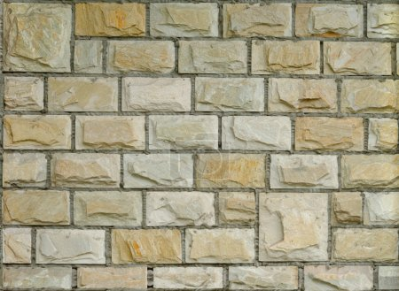 Photo for Fragment of new decorative brick wall with stucco - Royalty Free Image