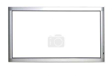 Photo pour Version mur de plasma tv isolé sur fond blanc - image libre de droit