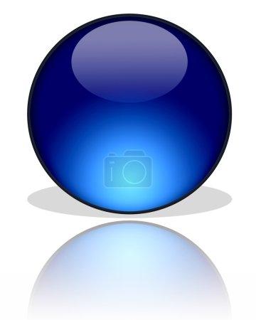 Dark blue glass ball