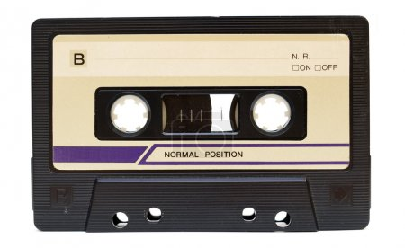 Photo for Old audio tape on white background - Royalty Free Image