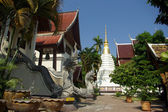 Court yard of thai temple