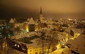 Winter Tallin at night