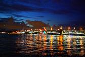 Troitsky bridge in the night