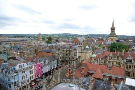 Photo pour Vue de dessus sur oxford abrite, Royaume-Uni - image libre de droit