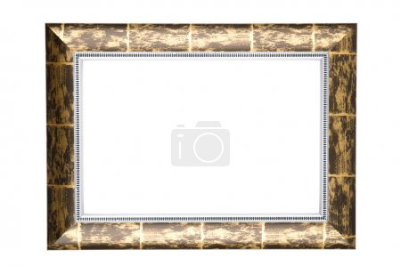 Photo for Object on white - wooden picture frame - Royalty Free Image