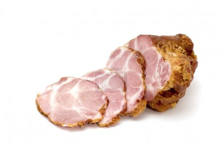Photo for Series object on white: food lobule ham - Royalty Free Image