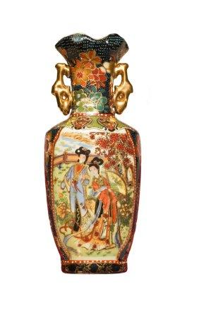 Photo pour Série : isolé sur blanc : Vieux vase antique - image libre de droit