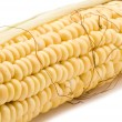 Object on white - food corn in cob