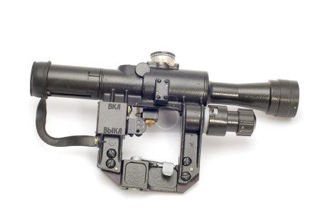 Photo pour Objet sur blanc : outil d'arme - vue optique - image libre de droit