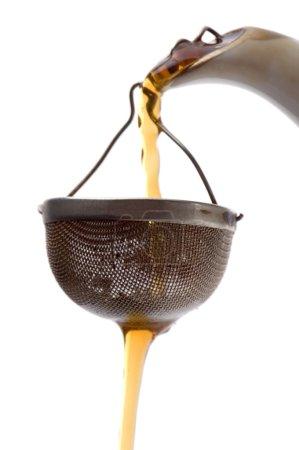 Tea strainer closeup