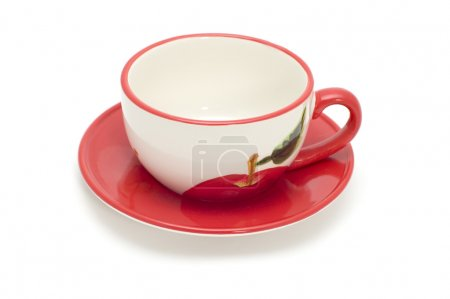 Photo for Object on white - kitchen utensil - tea cup and saucer - Royalty Free Image