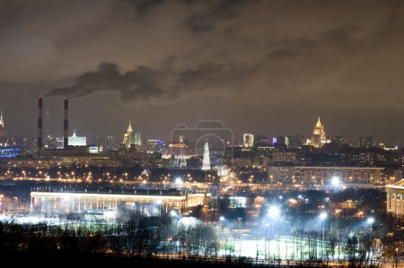 Panorama of Moscow in the night