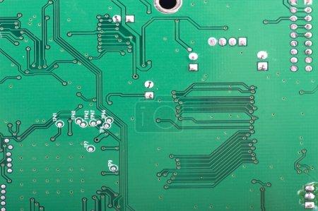 Printed wiring on black macro