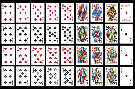 Photo for Object on balck - playing card close up - Royalty Free Image