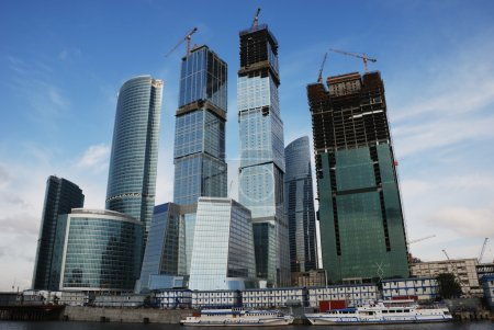 Moscow city; russian centre of trade and business...