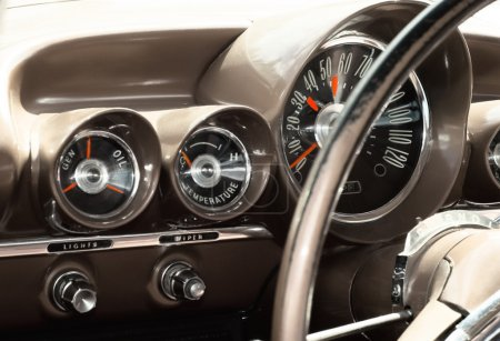 Interior of an old vintage car
