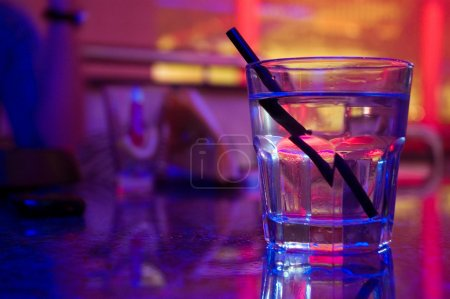Photo for Glass of alcohol drink in the night club - Royalty Free Image