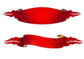 Set of two red ribbons for your design