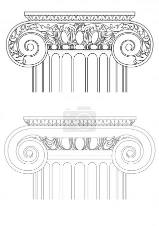Illustration for Architecture detail , vector classic column - Royalty Free Image