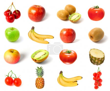 Set of fruits and vegetables isolated