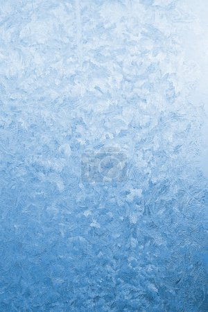 Light blue frozen glass