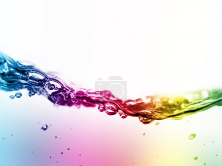 Colorful liquid in motion