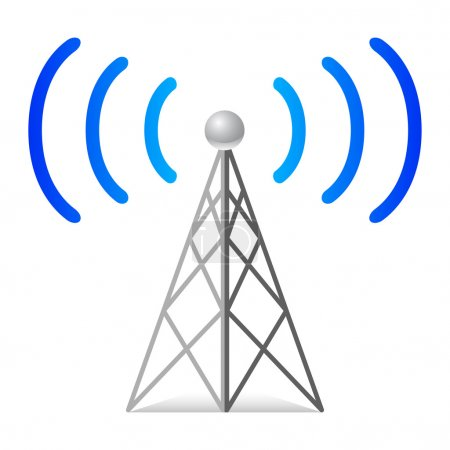 Illustration for Wireless tower - Royalty Free Image