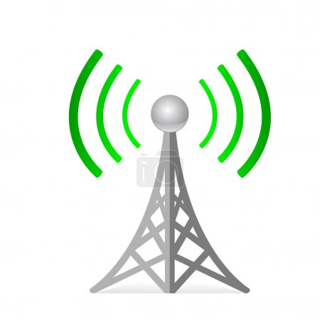 Illustration for Wireless vector - Royalty Free Image