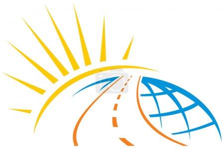Road across world