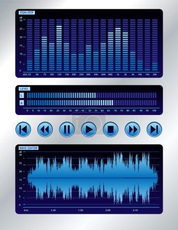 Blue sound mixer