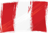 Grunge Peru flag