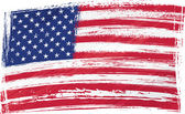 "Постер, картина, фотообои ""Флаг США гранж"""