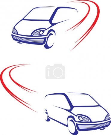 Photo for Simple graphic symbol for road transport company - Royalty Free Image