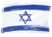 Israel national flag created in grunge style