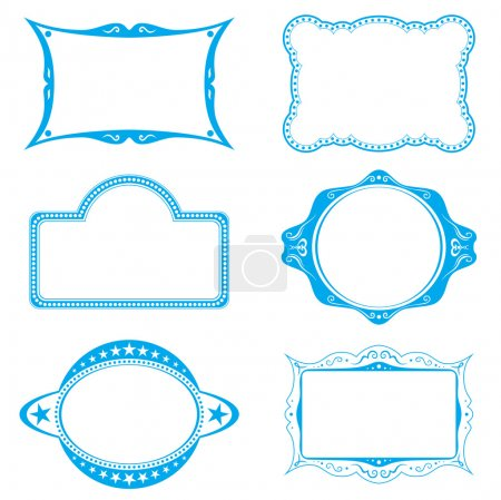 Illustration for Collection of different frames for background or labels - Royalty Free Image