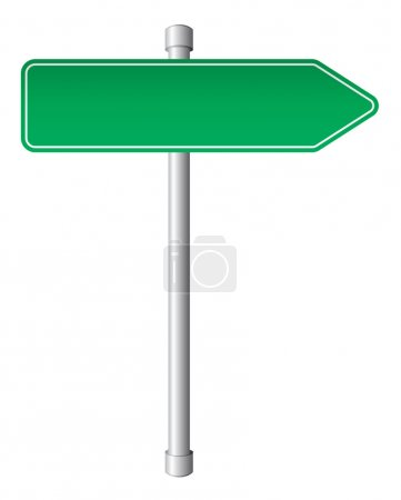 Illustration for Road direction sign isolated on white background - Royalty Free Image