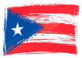 Puerto Rico national flag created in grunge style