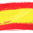 Spain national flag created in grunge style...