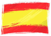 Spain national flag created in grunge style