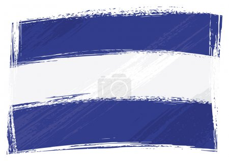 Grunge El Salvador flag