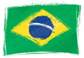 Grunge Brazil flag