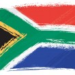 South Africa national flag created in grunge style...